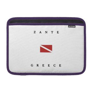 Zante Greece Scuba Dive Flag Sleeve For MacBook Air