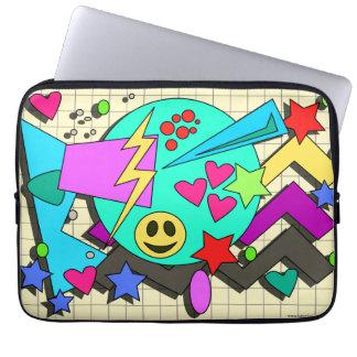 Zany 90s Cartoon Style Laptop Sleeve