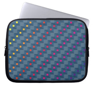 Zany abstract squares laptop sleeve