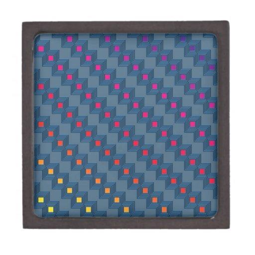 Zany abstract squares premium keepsake boxes