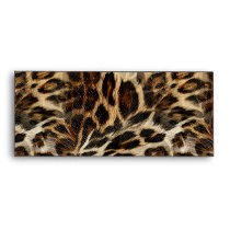 Zany and Spiffy Leopard Spots Leather Grain Look Envelope