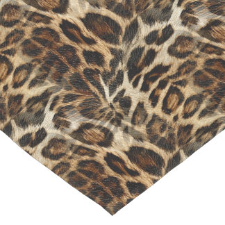 Great Zany And Spiffy Leopard Spots Leather Grain Look Short Table Runner