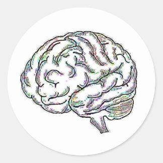 Zany Brainy Classic Round Sticker