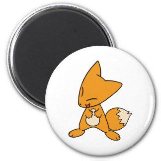 Zany Fox 2 Inch Round Magnet