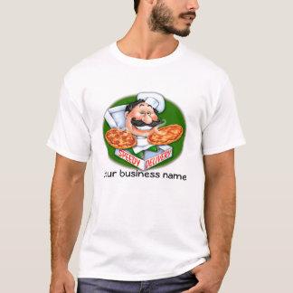 Zany Italian chef speedy pizza delivery T-Shirt