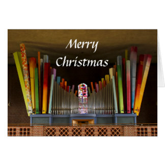 Zany organ Christmas card