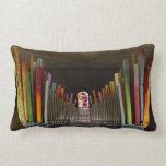 Zany organ pipes lumbar pillow