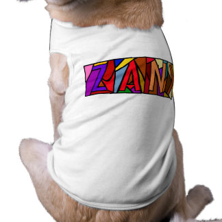 ZANY ~ PERSONALIZED BIG LETTERS PET-WARE FOR DOGS! DOGGIE TEE SHIRT