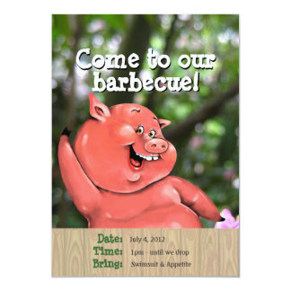 Zany pig roast summer barbecue custom template