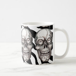 ZANY SKELETON CLASSIC WHITE COFFEE MUG