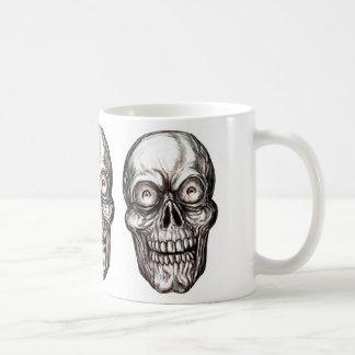 zany skull coffee mug