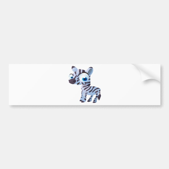 Zany The Zebra Bumper Sticker