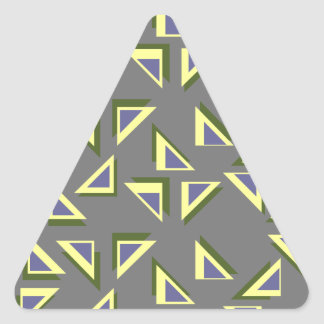 Zany Triangles Sticker