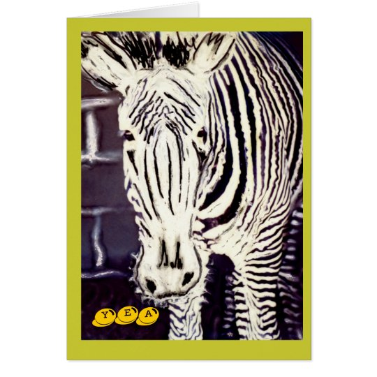 Zany Zebra, Military Congratulations Card