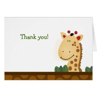 Zanzibar GIRAFFE Birthday Folded Thank you note Greeting Cards