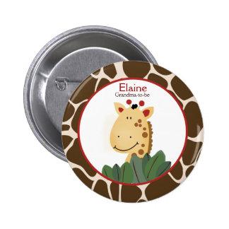 ZANZIBAR GIRAFFE PRINT NAME TAG Custom Button