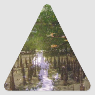 Zanzibar island beaches trees exotic landscape triangle sticker