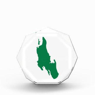 Zanzibar map acrylic award