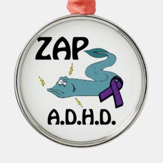 ZAP ADHD ROUND METAL CHRISTMAS ORNAMENT