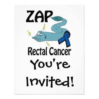 ZAP al cáncer rectal Invitaciones Personalizada