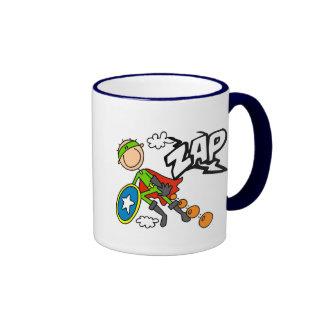 ZAP al héroe del muchacho Taza De Café
