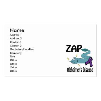 ZAP Alzheimers Disease Business Card
