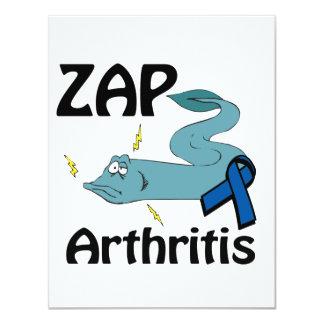 "ZAP Arthritis 4.25"" X 5.5"" Invitation Card"