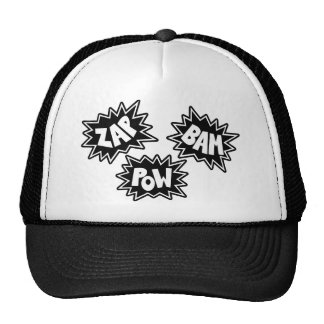ZAP BAM POW Comic Sound FX - Black Trucker Hat