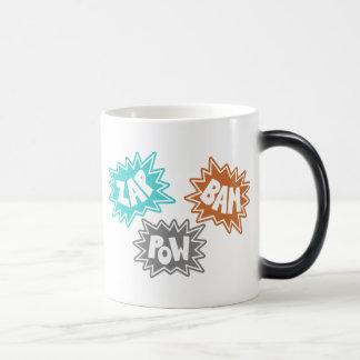 ZAP BAM POW Comic Sound FX - Orange Magic Mug
