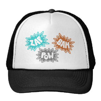 ZAP BAM POW Comic Sound FX - Orange Trucker Hat