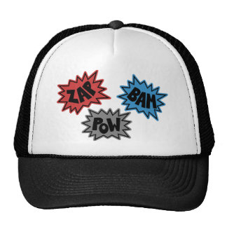 ZAP BAM POW Comic Sound FX - Original Trucker Hat