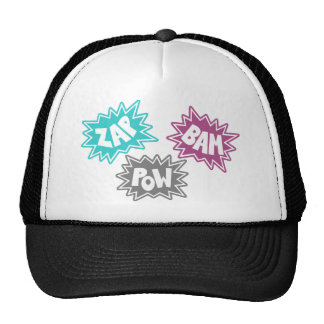 ZAP BAM POW Comic Sound FX - Pink Trucker Hat