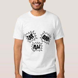ZAP BAM POW Comic Sound FX - White T-shirt