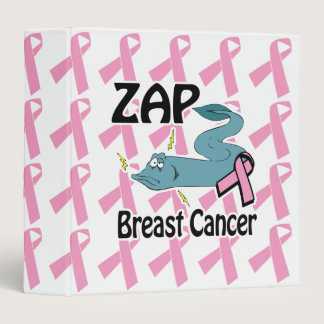 zap breast cancer awarness notebook 3 ring binder