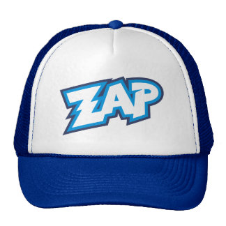 Zap Cartoon Splat Bang Trucker Hat