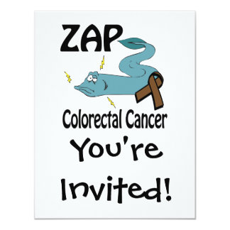 ZAP Colorectal Cancer 4.25x5.5 Paper Invitation Card