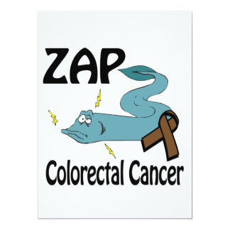 ZAP Colorectal Cancer 6.5x8.75 Paper Invitation Card