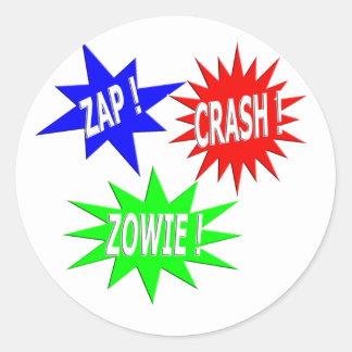 Zap Crash Zowie Sticker