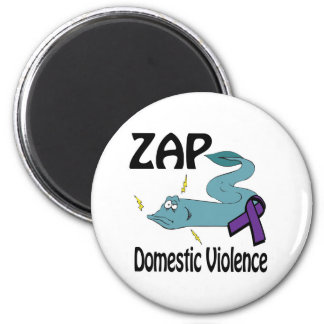 ZAP Domestic Violence 2 Inch Round Magnet