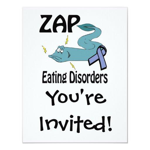 "ZAP Eating Disorders 4.25"" X 5.5"" Invitation Card"