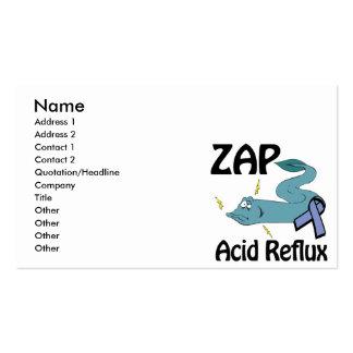 ZAP el reflujo ácido Tarjetas De Visita