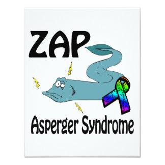ZAP el síndrome de Asperger Invitación 10,8 X 13,9 Cm