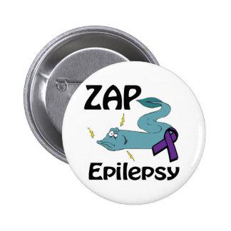 ZAP Epilepsy (purple) Pinback Button