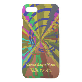 Zap Exciting Abstract with Your Text iPhone 7 Case
