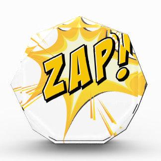 Zap flash on white award