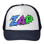 ZAP hat blue, purple and green