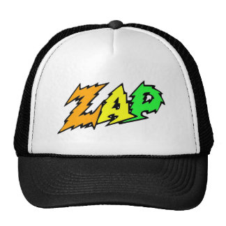 ZAP hat green, yellow and orange