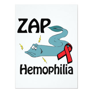 ZAP Hemophilia 6.5x8.75 Paper Invitation Card