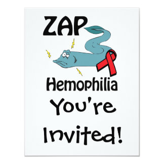 ZAP Hemophilia 4.25x5.5 Paper Invitation Card