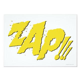 """¡ZAP!!! INVITACIÓN 5"""" X 7"""""""